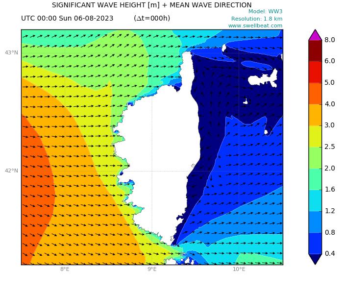 Corsica wave forecast