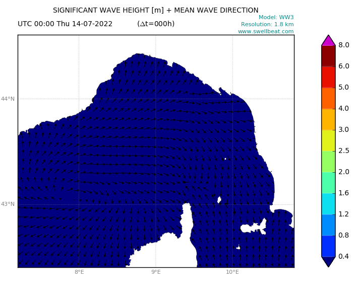 Ligurian Sea wave forecast