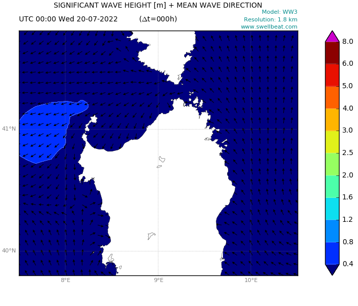 Sardinia wave forecast